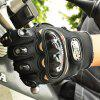 Fashion Motorcycle Glove Outdoor Sports Full Finger Knight Riding Motorbike Breathable Mesh Fabric - BLACK