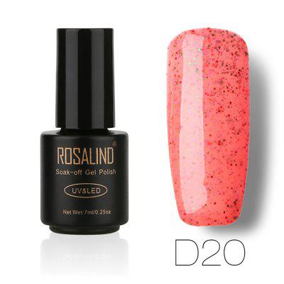 ROSALIND Black Bottle 7ML Candy Bling D01-24 Gel Nail Polish