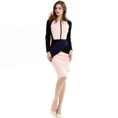 2017 Europe and America Burst Fashion Self Cultivation Stitching Collision Color New Style Pencil Dresses D0532Long Sleeve Dresses<br>2017 Europe and America Burst Fashion Self Cultivation Stitching Collision Color New Style Pencil Dresses D0532<br><br>Dresses Length: Knee-Length<br>Elasticity: Elastic<br>Fabric Type: Broadcloth<br>Material: Cotton<br>Neckline: Round Collar<br>Package Contents: 1xDress<br>Pattern Type: Geometric<br>Season: Spring, Winter, Fall, Summer<br>Silhouette: Straight<br>Sleeve Length: Long Sleeves<br>Style: Fashion<br>Weight: 0.3000kg<br>With Belt: No