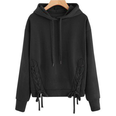 Buy BLACK S Long Sleeve Pure Color Hoodie for $22.07 in GearBest store