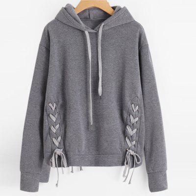 Buy DEEP GRAY M Long Sleeve Pure Color Hoodie for $22.07 in GearBest store