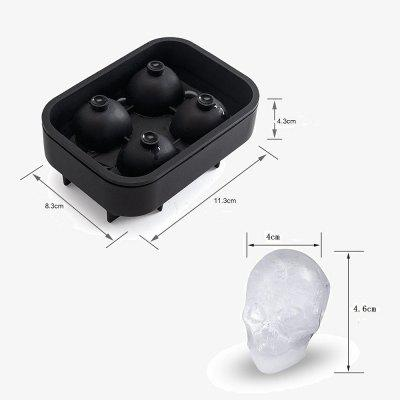 Skull Silicone Ice Cube Tray for Cocktails WhiskeyOther Kitchen Accessories<br>Skull Silicone Ice Cube Tray for Cocktails Whiskey<br><br>Material: Silicone<br>Package Contents: 1 x Ice Cube Tray<br>Package size (L x W x H): 15.00 x 10.00 x 5.00 cm / 5.91 x 3.94 x 1.97 inches<br>Package weight: 0.1200 kg<br>Product size (L x W x H): 11.30 x 8.30 x 4.30 cm / 4.45 x 3.27 x 1.69 inches<br>Type: Other Kitchen Accessories