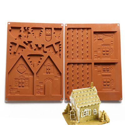 Buy COFFEE Christmas House Set Silicone Chocolate Candy Cake Biscuits Cake Baking Cooking Fondant Decoration Mould Random Color 2PCS for $5.08 in GearBest store
