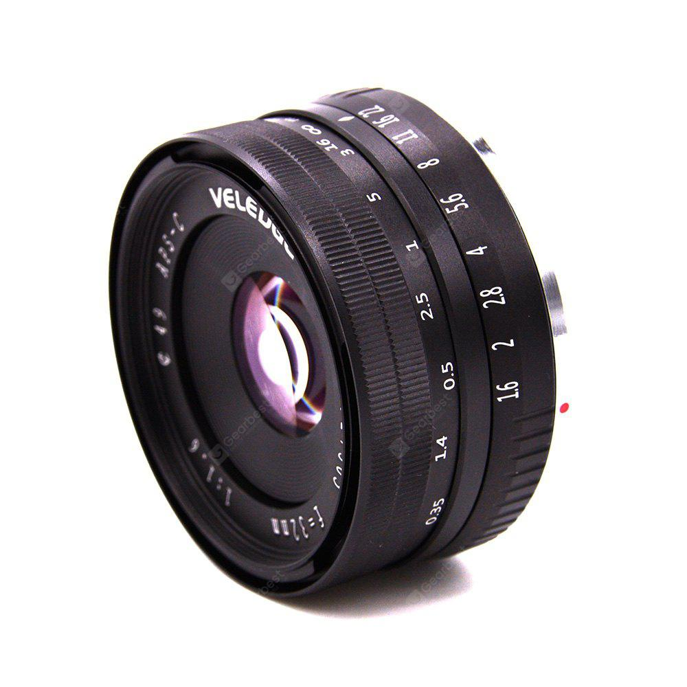 ELEDGE 32mm F1.6 Large Aperture Manual Prime Fixed Lens APS-C for Sony E-Mount Digital Mirrorless Cameras NEX A6300