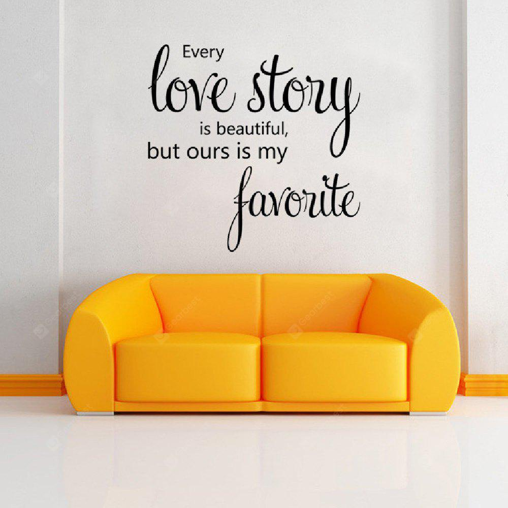Buy dsu home decoration love story wall sticker house for Home decor 2 love