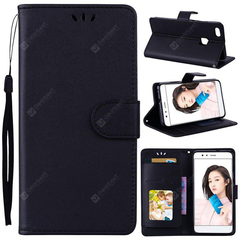 PU Leather Material Photo Frame Solid Color Phone Case for Huawei P10 Lite