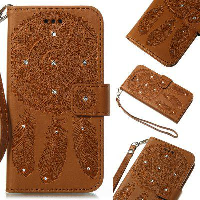 Wind Chime Leather Case with Water Drill for Huawei P8 Lite 2017