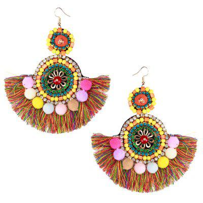 Tassel Mao Resin - Boucles d'oreilles multicouches