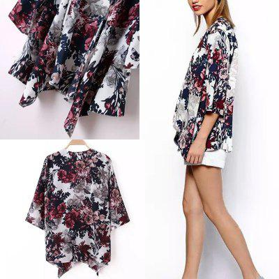 NEW Fashion Women Casual BOHO Hippie Floral Baggy Jacket Kimono Coat Print Cape Cardigan Outwears Oversize