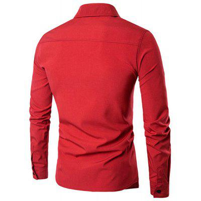 Simple Style Casual Fashion Designer Shirts for MenMens Shirts<br>Simple Style Casual Fashion Designer Shirts for Men<br><br>Collar: Turn-down Collar<br>Fabric Type: Broadcloth<br>Material: Cotton Blends<br>Package Contents: 1 x  Shirts<br>Shirts Type: Casual Shirts<br>Sleeve Length: Full<br>Weight: 0.2630kg