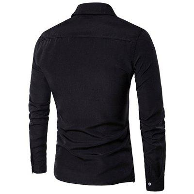 Simple Style Casual Fashion Designer Shirts for MenMens Shirts<br>Simple Style Casual Fashion Designer Shirts for Men<br><br>Collar: Turn-down Collar<br>Fabric Type: Broadcloth<br>Material: Cotton Blends<br>Package Contents: 1 x  Shirts<br>Shirts Type: Casual Shirts<br>Sleeve Length: Full<br>Weight: 0.4000kg
