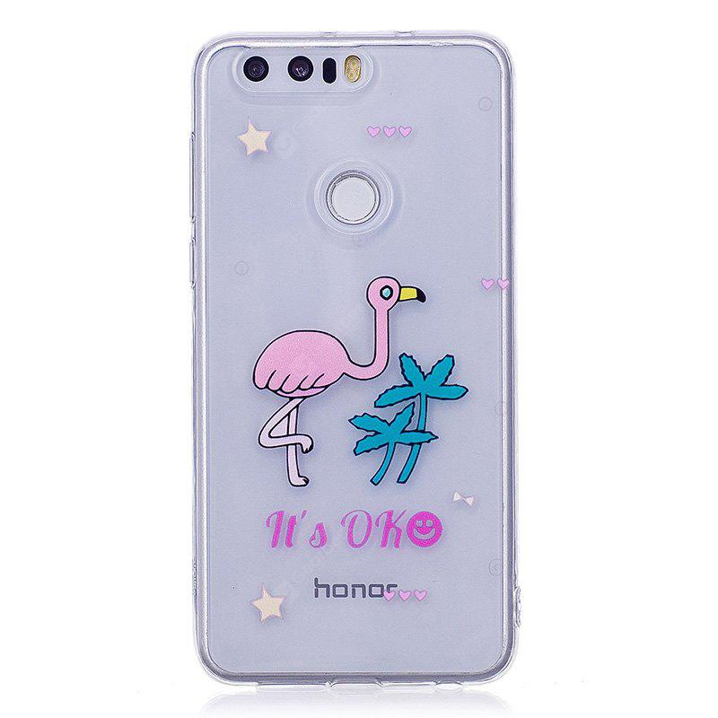 Ostrich Pattern Soft TPU Clear Case for Huawei Honor 8