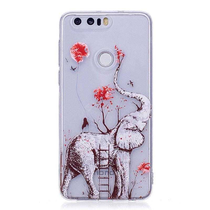 Elephant Pattern Soft TPU Clear Case for Huawei Honor 8