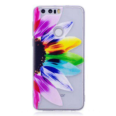 Funda transparente Sunflower Pattern Soft TPU para Huawei Honor 8