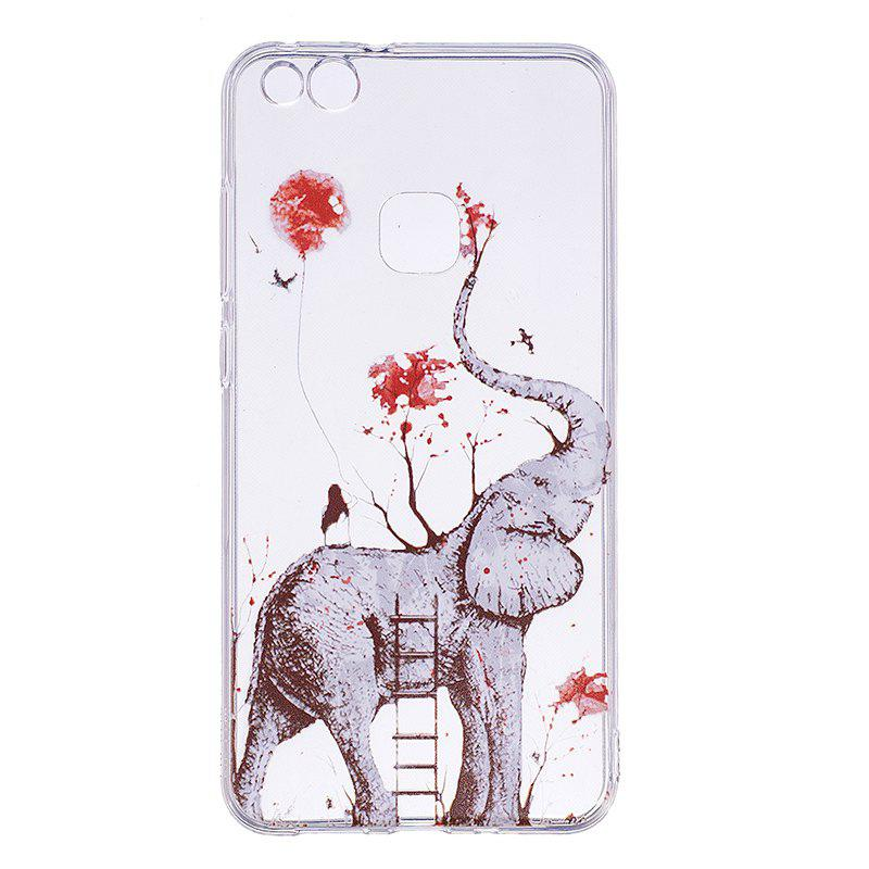 Elephant Pattern Soft TPU Clear Case for Huawei P10 Lite