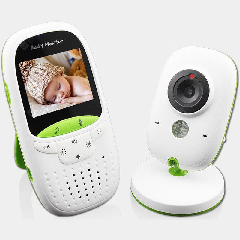 LCD IR Night Vision Baby Monitor Wireless Video Temperature Time Display Intercom VOX Mode GS-602