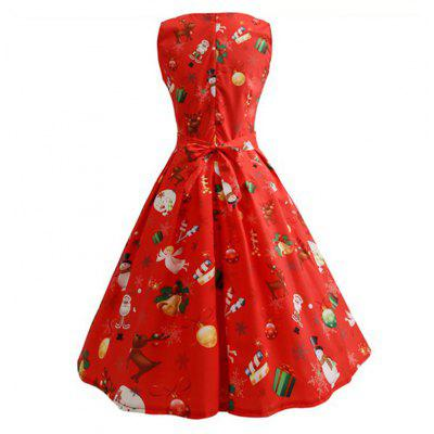 Womens Fashion Round Neck Christmas Print DressWomens Dresses<br>Womens Fashion Round Neck Christmas Print Dress<br><br>Dresses Length: Knee-Length<br>Elasticity: Elastic<br>Fabric Type: Woolen<br>Material: Polyester<br>Neckline: Round Collar<br>Package Contents: 1 x Dress<br>Pattern Type: Print<br>Season: Summer<br>Silhouette: Straight<br>Sleeve Length: Sleeveless<br>Style: Fashion<br>Weight: 0.2500kg<br>With Belt: Yes