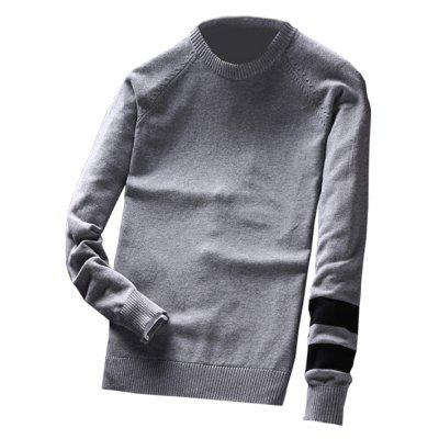 Pull col rond à col rond pour hommes