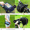 Bicycle Handlebar Bag,Cycling Waterproof Portable Front Handlebar Bag with Transparent PVC Touchscreen Operation Pouch - AZUL