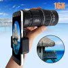 Universal 16x52mm HD Universal Outdoor Camping Hiking Concert Optical Monocular Telescope Zoom Lens Armoring Phone Camera Photo Lens (Color: Black) - COMME PHOTO