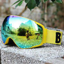 New Design Ski Goggles Snow Glasses /UV- Protection Multi-Color Double Anti-fog Lens Snowboard Skiing Goggles with Free Bag