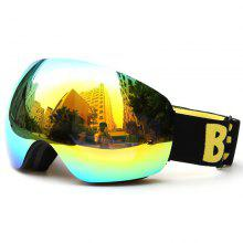New Design Ski Goggle Snow Glasses /UV- Protection Multi-Color Double Anti-fog Lens Snowboard Skiing Goggle with Free Bag
