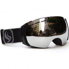 Mirror Double Lens Ski Goggle Unisex Skiing Snowboard UV-400 Anti-Fog Skiing Glasses With Free Bag