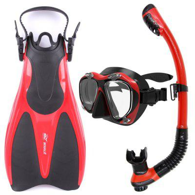 Whale Adult Flexible Comfort Diving Sports Equipment Diving Mask Snorkel Fins Set High Quality With 5 Colors