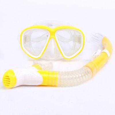 Water Sports Diving Mask Snorkel Equipment Anti-Fog Silicone Diving Mask Snorkel Set MK500+SK900B