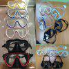 High Quality Diving Equipment Swimming Diving Mask Goggles Toughened Tempered Glass Professional 6 Color Glass - BLACK