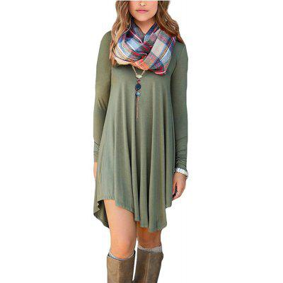 Women's Long Sleeve Casual Loose  Dress
