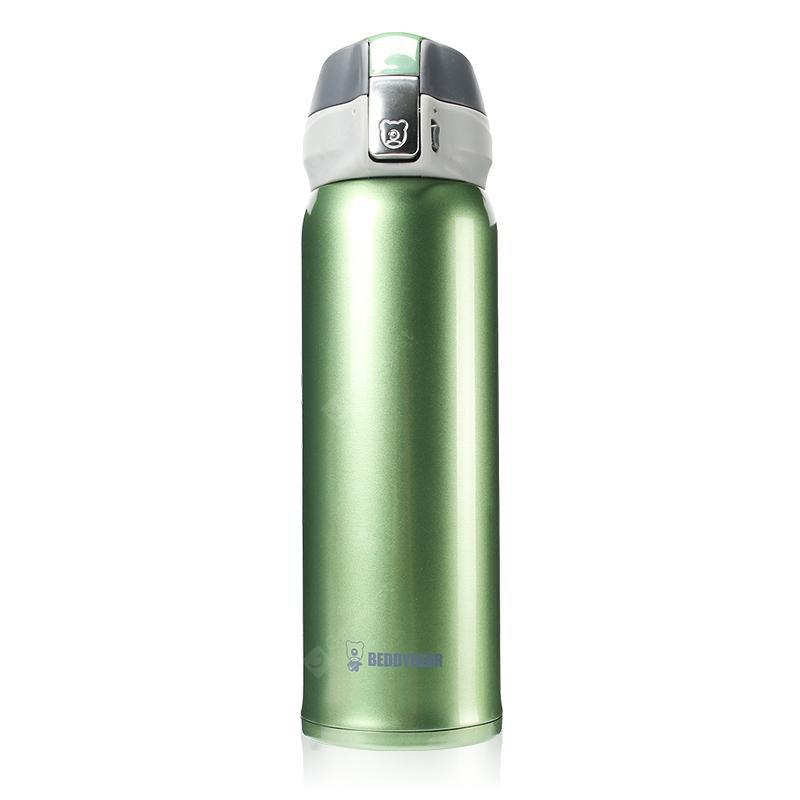 Coupe Ours Nouvelle UV Solide Couleur Acier Inoxydable Simple Isolation Tasse 450ML