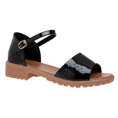 KMN-701 Flat Bottomed Sandals e Fish Mouths in the Dew Toes