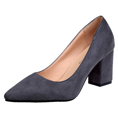NJ-6813 Pointed Muzzle Feet Thick Shallow Suede Shoes MerchandiserWomens Pumps<br>NJ-6813 Pointed Muzzle Feet Thick Shallow Suede Shoes Merchandiser<br><br>Heel Type: Chunky Heel<br>Occasion: Office &amp; Career<br>Package Contents: 1xShoes ?pair?<br>Pumps Type: Basic<br>Season: Summer, Spring/Fall<br>Toe Shape: Pointed Toe<br>Toe Style: Closed Toe<br>Upper Material: Flock<br>Weight: 0.8320kg