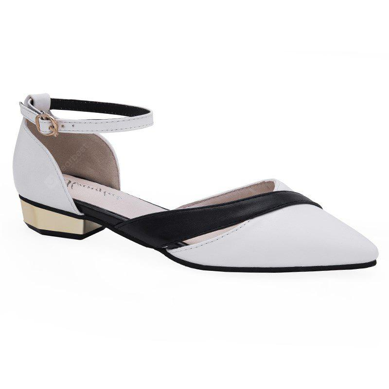 KT-811 Pointed All-match Color Word Buckle Shoes