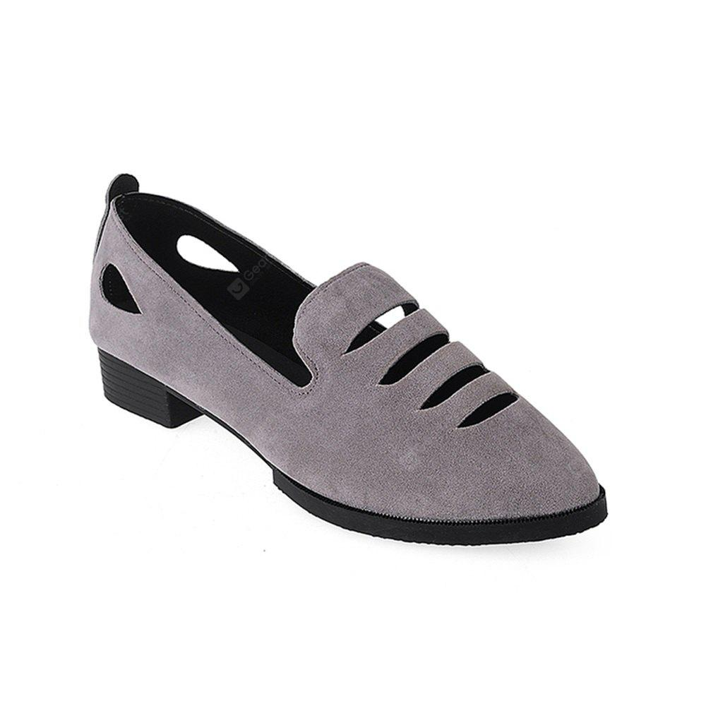 BS-801A Low Heel Shoes Are Comfortable All-Match Hollow
