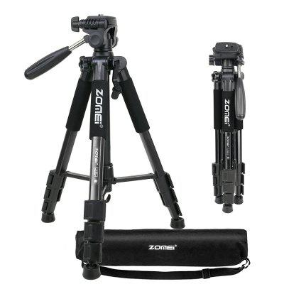Buy BLACK Zomei 55 inch Q111 Pan Head Aluminum Alloy Camera Tripod Lightweight for Digital SLR Canon Nikon Sony Olympus Samsung for $52.54 in GearBest store