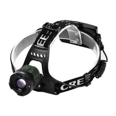 HKV XML T6 Rotating Focus Waterproof LED Highlight Headlight