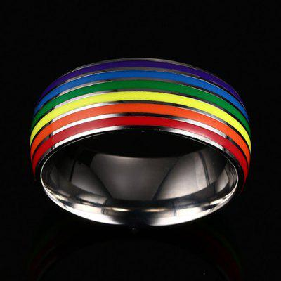 Rainbow Gay Jewelry Fashion Personality Titanium Steel RingMens Jewelry<br>Rainbow Gay Jewelry Fashion Personality Titanium Steel Ring<br><br>Gender: For Men<br>Package Content: 1 x Ring<br>Package weight: 0.0430 kg<br>Style: Trendy