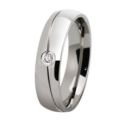 Fashionable Titanium Steel Men and Women Ring Personalized Simple Diamond Jewelry