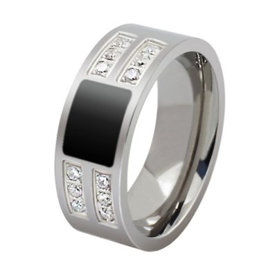 Gorgeous Shiny Ring with Zircon Men's Fashion Accessories