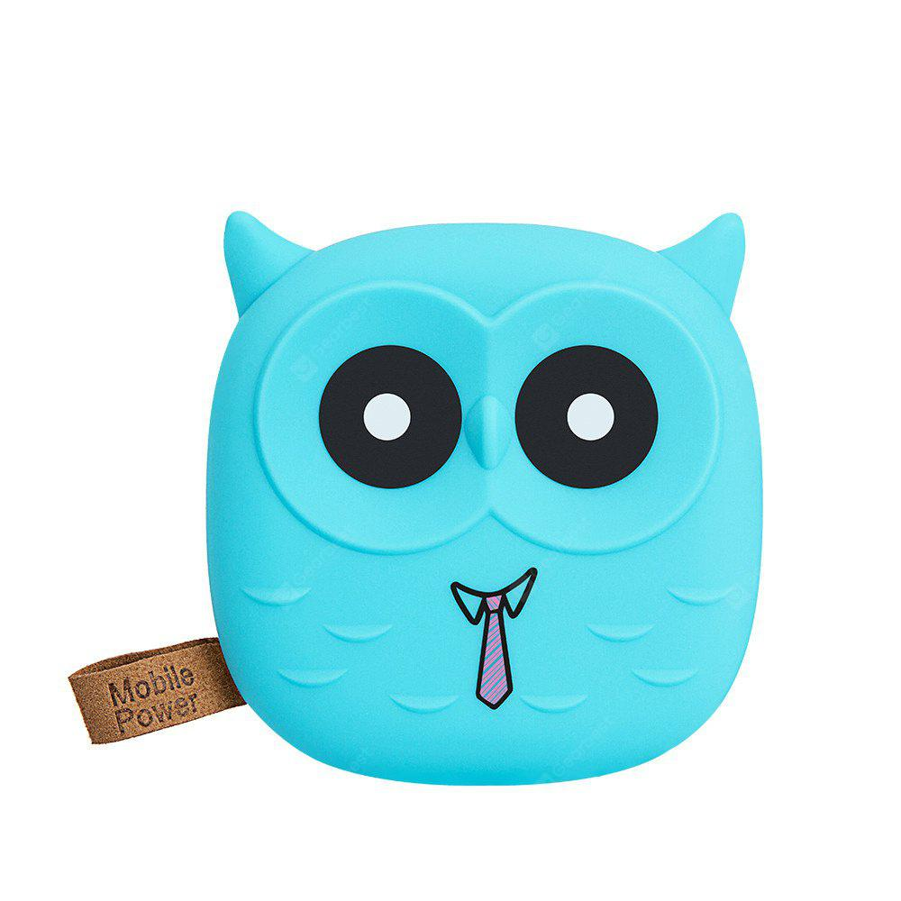 Cartoon Owl Power Bank 7800mAh Portable Charger Dual USB Small Powerbank 18650 Battery Pack For All Mobile Phones