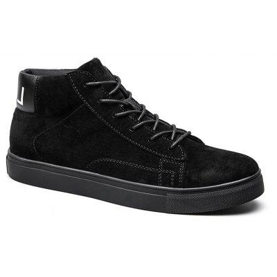 Buy BLACK 39 Men Casual Trend of Fashion Rubber Outdoor Warm Lace Up Ankle Boots for $59.42 in GearBest store