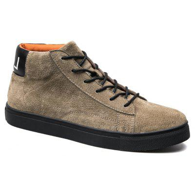 Buy KHAKI 43 Men Casual Trend of Fashion Rubber Outdoor Warm Lace Up Ankle Boots for $59.42 in GearBest store
