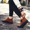 Men Casual Trend of Fashion Winter Rubber Outdoor Walking Lace Up Ankle Shoes - ORANGE