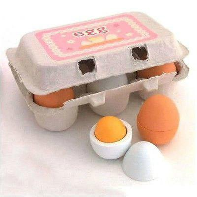 Wooden Kitchen Toys For Girls Kids Pretend Play Food Eggs