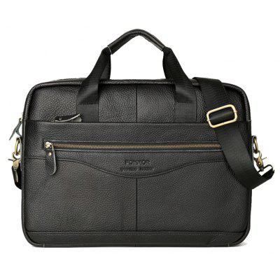 Image result for FONMOR Genuine Leather Briefcases Men Handbag Cowhide Business laptop bag gearbest