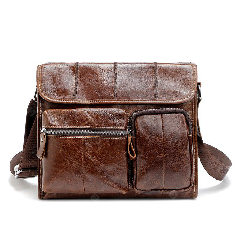 Fonmor New Leather Men Messenger Bags Fashion Business Shoulder bags ... 02fc4352ae698