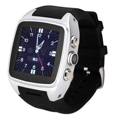 X01 MTK6572 Android4.2 1.5 Inch 3G GPS Bluetooth 512MB 4GB Waterproof Heartrate Pedometer Tracker PSG Smartwatch