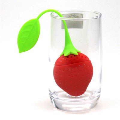 Strawberry Silicone Tea Filter